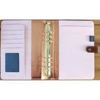 """Color Crush A5 Faux Leather 6-Ring Planner Binder 7.5""""X10"""""""