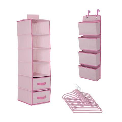 Delta Children Complete Nursery Organization ValuePack (12-Piece Set), Barely Pink