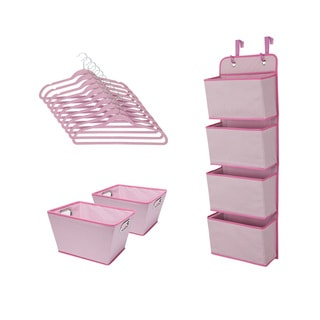 Delta Children Complete Nursery Organization ValuePack (13-Piece Set), Barely Pink