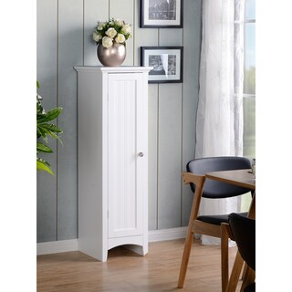 OS Home and Office White Wood One Door Kitchen Storage Pantry