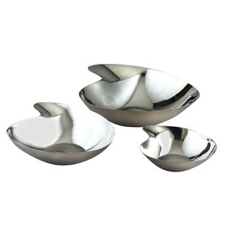 "Stainless Steel Serving Bowls in Three Size Set-6"",9"",11"""