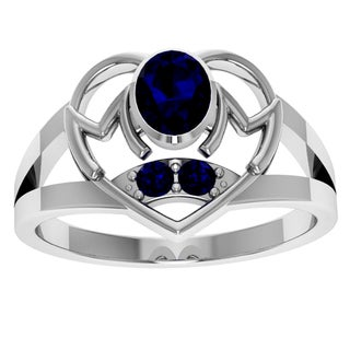 Orchid Jewelry Sterling Silver Sapphire 'Mom' Ring