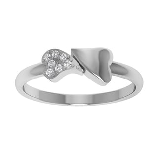 Orchid Jewelry Sterling Silver Mother's Day Gift Diamond Ring