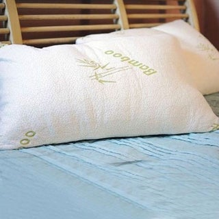 High Comfort Shredded Memory Foam Pillow with Rayon from Bamboo Cover (2 options available)