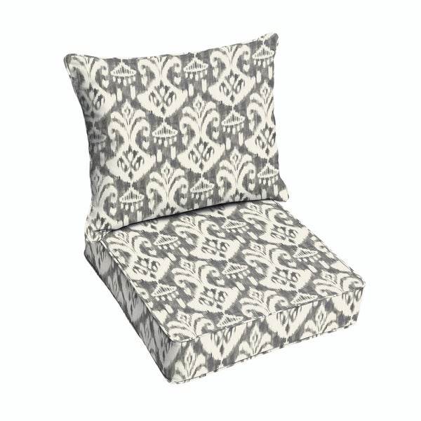 Shop Rainford Grey Cream Indoor Outdoor Chair Corded Cushion And