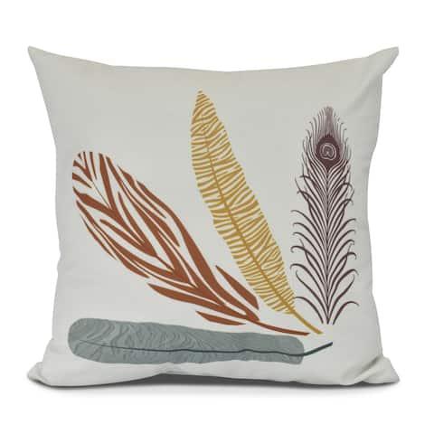 Feather Stripe Indoor Pillow