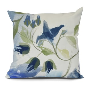 Windy Bloom Floral Print Pillow