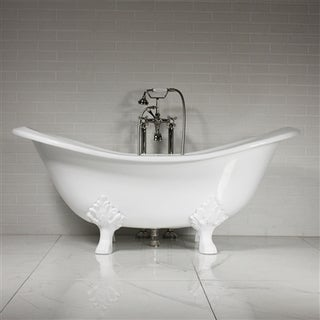 The Smithfield68 68 inches Cast Iron Double Slipper Tub Package