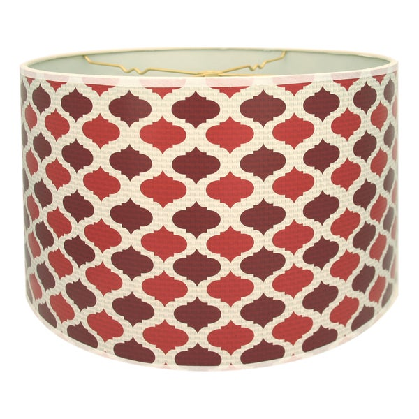 Royal Designs Two-tone Red Moroccan Design10 x 10 x 8-inch Modern Trendy Decorative Handmade Lamp Shade