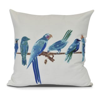 Morning Birds Animal Print Pillow