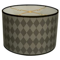 Royal Designs Black and Grey Diamond Design10 x 10 x 8-inch Modern Trendy Decorative Handmade Lamp Shade