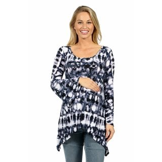 24/7 Comfort Apparel Fantasy Batik Everyday Glamour Maternity Tunic