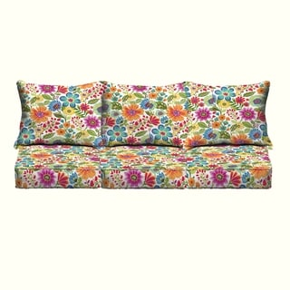 Galliford Multi Floral Indoor/ Outdoor Corded Pillow and Cushion 6-pc Sofa Set