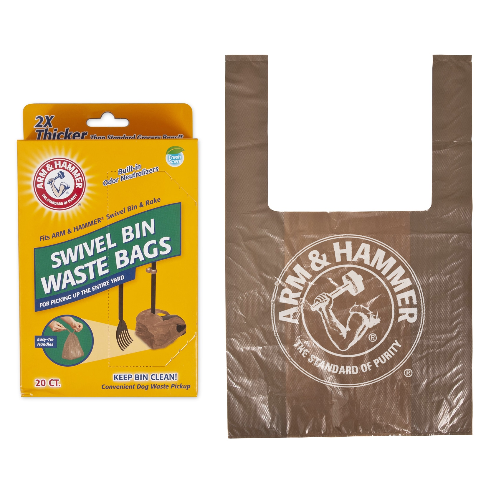 Arm & Hammer Pet Disposable Handle Tie Waste Bags 20 Coun...