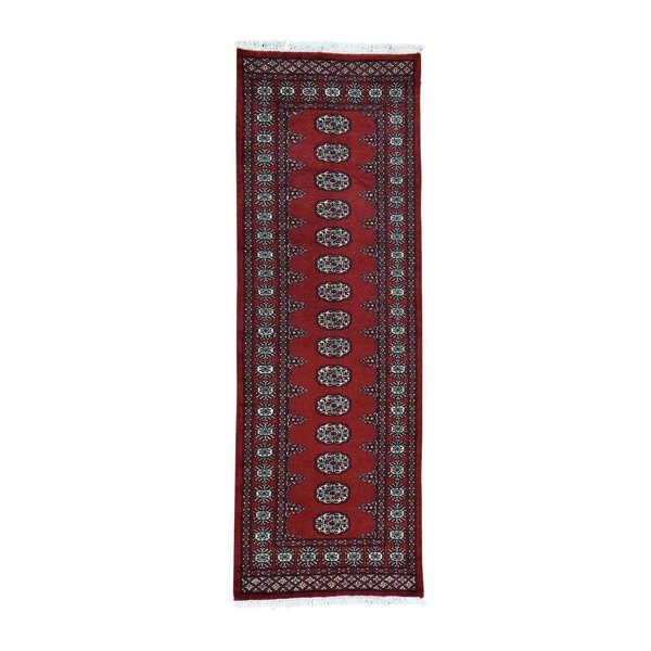 1800getarug Pure Wool Hand Knotted Elephant Feet Design Bokara Runner Rug 2 X27