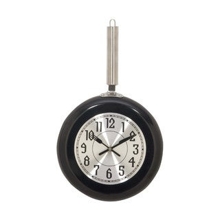 Benzara Black Metal Medium Wall Clock