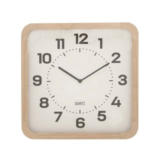 Benzara Natural Wood Table Clock
