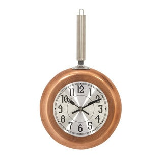 Copper Finish Metal Medium Wall Clock