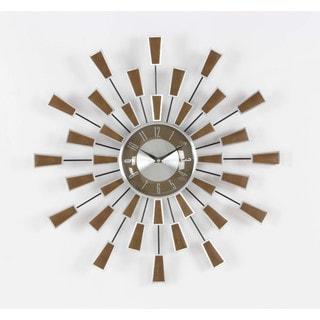 Benzara Ravishing Metal Starburst Design Wall Clock