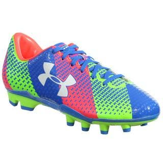 Under Armour Women's UA W CF Force FG Blue/Green/Orange Synthetic Soccer Cleats