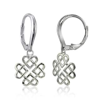 Mondevio Sterling Silver High Polished Cletic Love Knot Leverback Earrings https://ak1.ostkcdn.com/images/products/15029634/P21525400.jpg?impolicy=medium