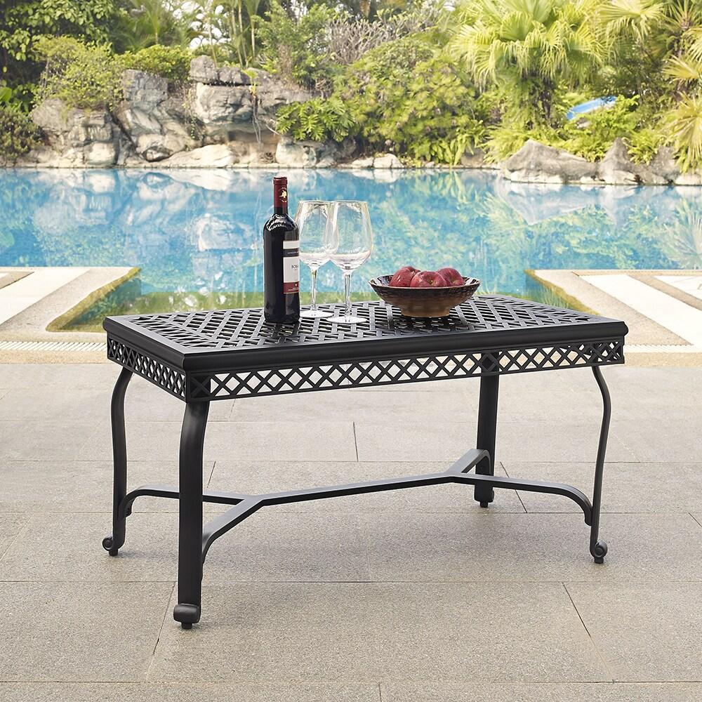Crosley Portofino Charcoal Black Finish Cast Aluminum Coffee Table