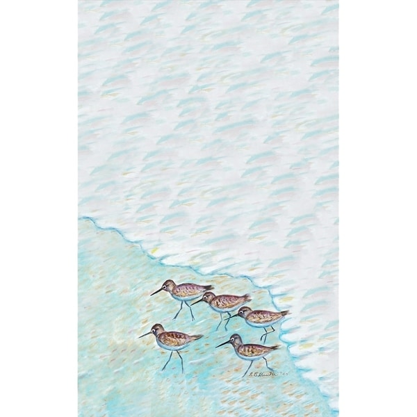 Betsey Drake Sandpipers Kitchen Towel