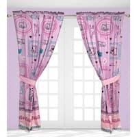 Cat's Meow 4-Piece Window Curtain Panel Pair Set