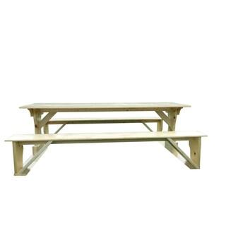 Commercial Grade Indoor-Outdoor White Cedar Pub Trestle Table
