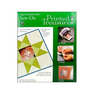 Dritz Printed Treasures Sew On Fabric (50 Sheets)