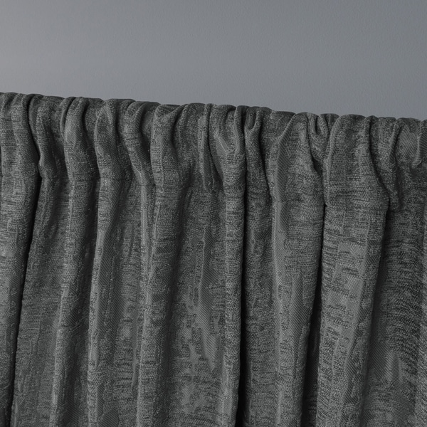 52x84 Exclusive Home Crosshatch Chenille Rod Pocket Curtain Panel Pair Indigo