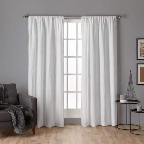 The Gray Barn Dreamweaver Chenille Rod Pocket Top Curtain Panel Pair
