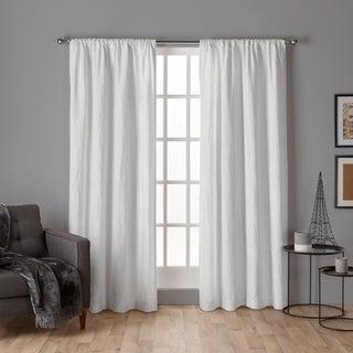 ATI Home Crosshatch Chenille Rod Pocket Window Curtain Panel Pair