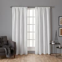 ATI Home Crosshatch Chenille Rod Pocket Top Curtain Panel Pair