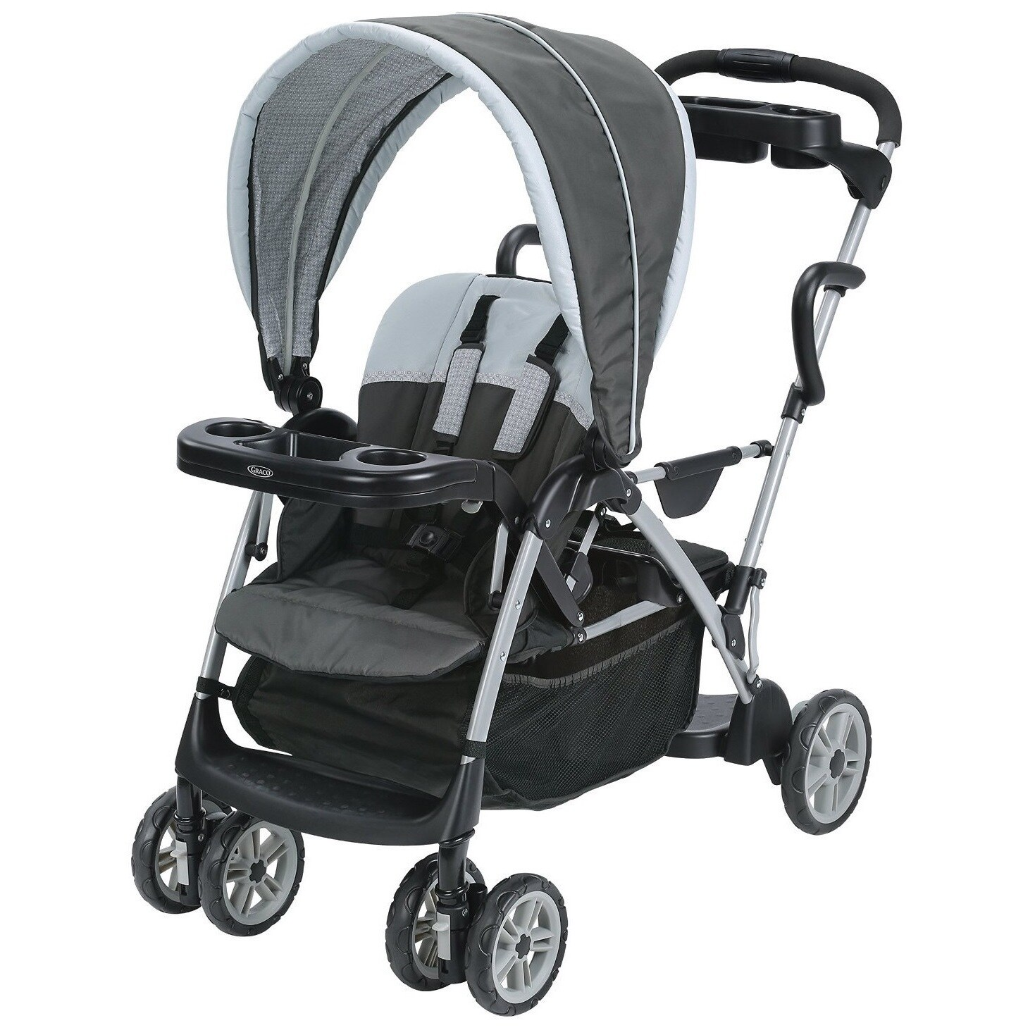 Graco Glacier RoomFor2 Stand And Ride Stroller (Black, Gray)
