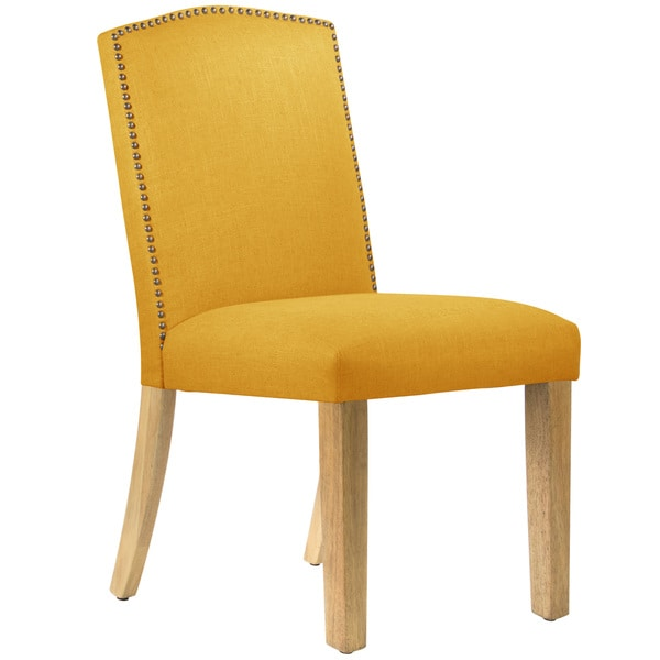 Skyline furniture linen nail button dining chair free for Outdoor furniture 0 finance