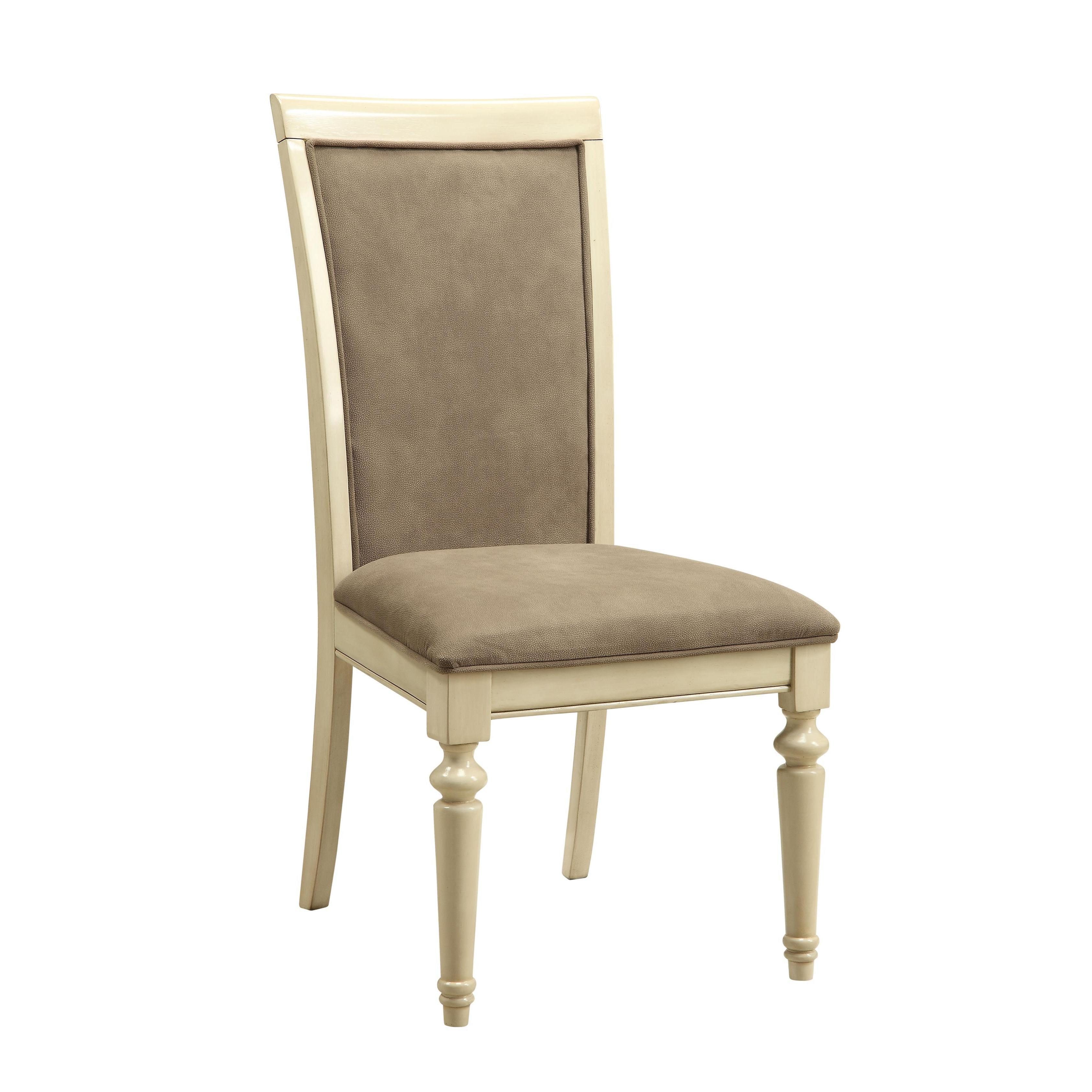 ACME Furniture Ryder Marble and Antique White Dining Chai...