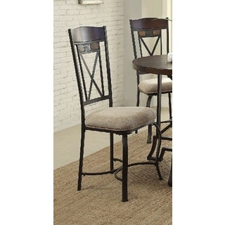 Acme Furniture Hyatt Cherry and Antique Black Dining Chairs (Set of 2)