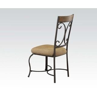 Acme Furniture Kiele Oak Antique Black Dining Chair (Set of 2)