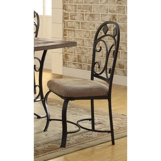 Acme Furniture Kiele Antique Black Dining Chairs (Set of 2)