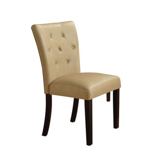 Acme Furniture Bethany Cream/Walnut Faux Leather Side Chairs (Set of 2)