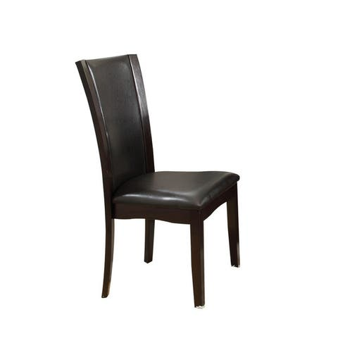 Acme Furniture Malik White/Espresso Dining Chairs (Set of 2)