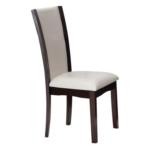 Acme Furniture Malik White Espresso Dining Chairs Set Of 2