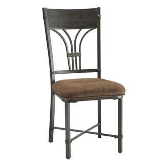Acme Furniture Kipp Antique Black Fabric Dining Chairs (Set of 2)