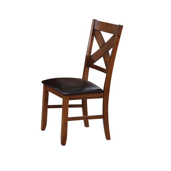 Acme Furniture Espresso Faux-leather Apollo Dining Chair (Set of 2)  sc 1 st  Overstock.com & Shop Acme Furniture Espresso Faux-leather Apollo Dining Chair (Set ...