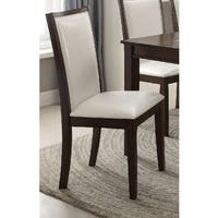 Acme Furniture Eastfall White/Espresso Dining Chair (Set of 2)