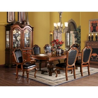 Acme Furniture Chateau De Ville Black PU and Cherry Chair (Set of 2) (2 options available)