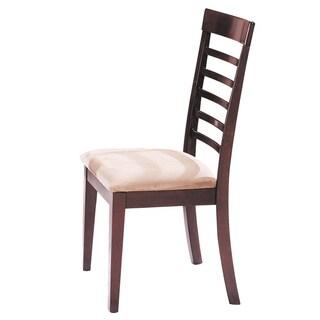 Acme Furniture Martini Side Chair (Set-2), Brown Cherry & Chrome