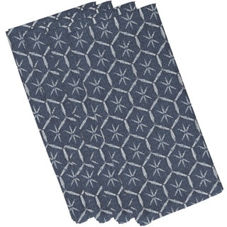 Tufted Geometric Print Napkin