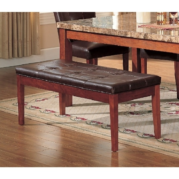 Charmant Acme Furniture Bologna Brown Cherry Dining Bench